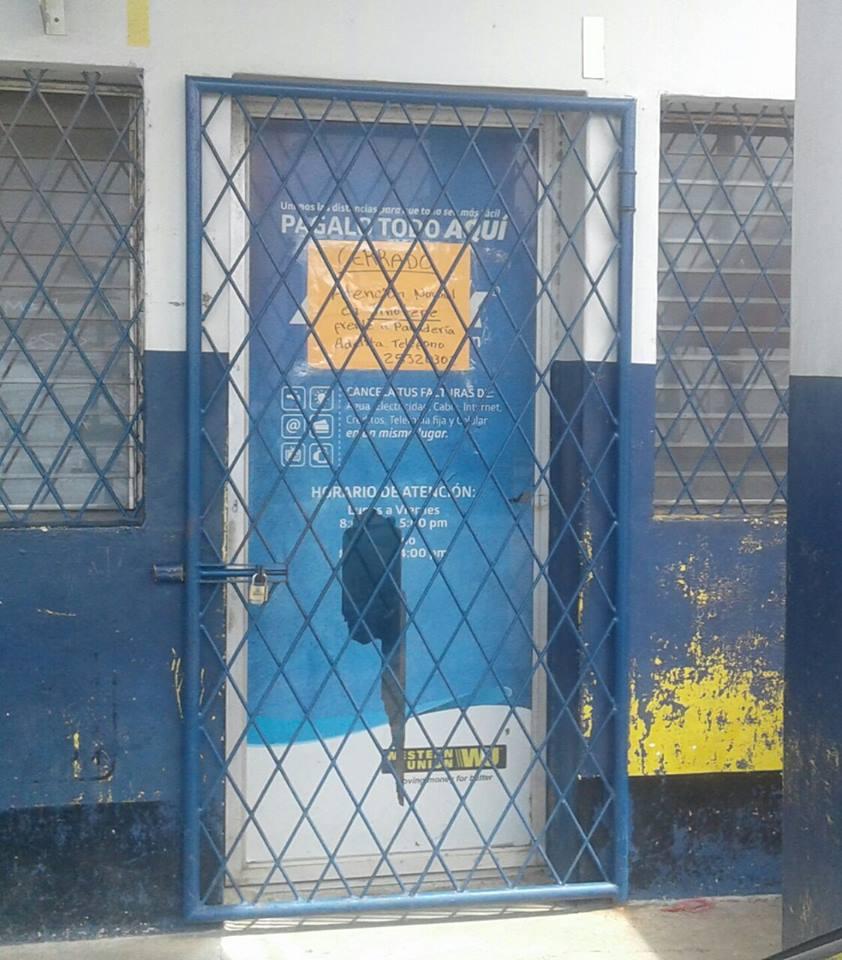 Permanecen cerradas las instalaciones de agencia de remesas asaltada el día de ayer en Diriamba