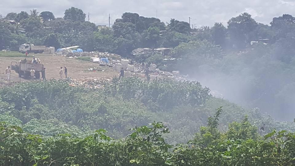 Humo permanente en basurero de Diriamba afecta a familias aledañas